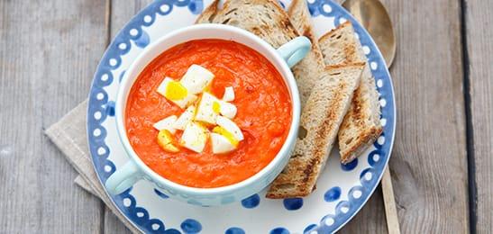 tomatensoep voor 2 personen