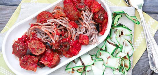 vegetarische pasta tomatensaus