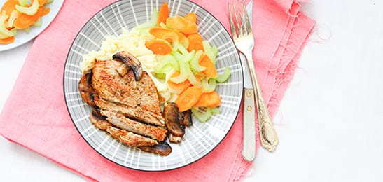 groente bij varkensvlees