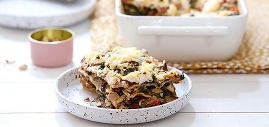 lasagne met hazelnoten